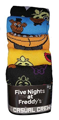Fashion  Five Nights at Freddys 5 Pair Casual Crew Socks ,43386,Multicoloured