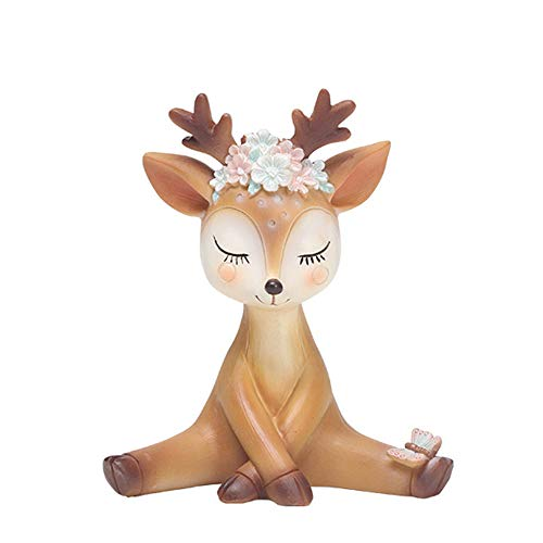 L.DONG Deer Figurines Toys Decor 4.3