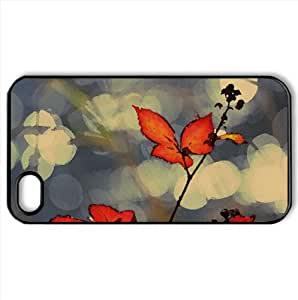 Red Fall Foliage Watercolor style Cover iPhone 4 and 4S Case (Autumn Watercolor style Cover iPhone 4 and 4S Case)