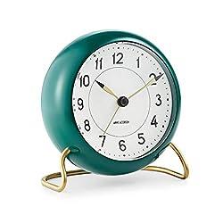 Rosendahl Station Table Alarm Clock White/green