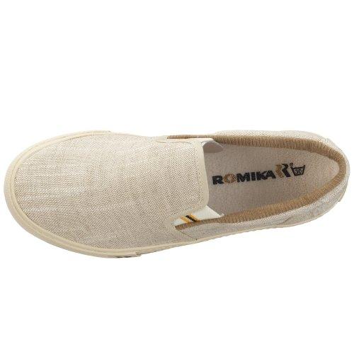 Romika Laser 20002 70 000 - Zapatillas de lona estilo mocasín unisex Beige (Beige/Natur)