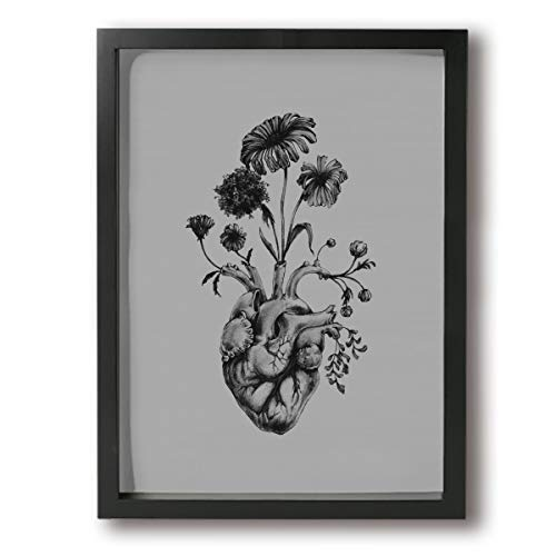 Henry Huxley Paintings On Canvas Wall Art Framed - Poster Frame Tattoo Ideas Modern Home Decor Stretched Ready to Hang - for Indoor Living Room Decoration 12x16in (Ready Use Henna Tattoo To Ink)