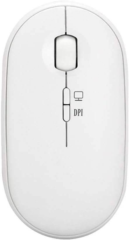GUOJIE sans Fil Souris, Souris sans Fil de Charge silencieuse silencieuse Ordinateur Portable Gaming Power Saving illimité Gaming Mouse Portable (Color : White) White
