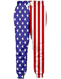Men/Women 3D Joggers Pants Trousers Sport Track Sweatpants Baggy