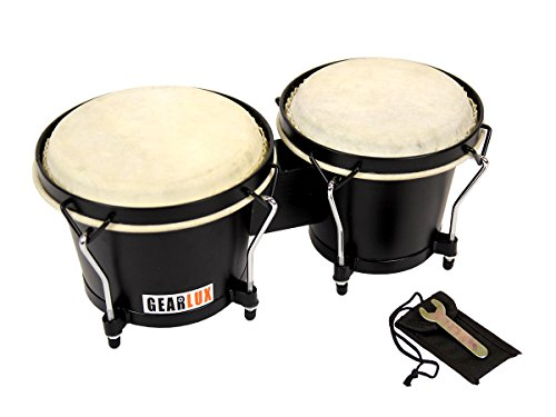 Gearlux Tunable Bongos - Black