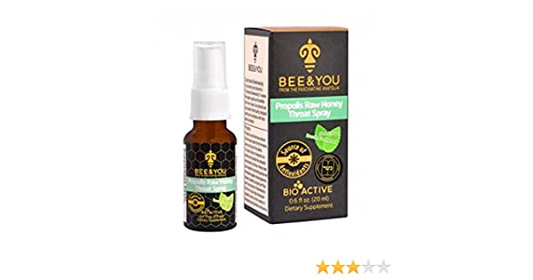 BEE & YOU Propolis Raw Honey Throat Spray - Sore Throat Relief - Immune  Support - Natural Cold Flu Cough Spray