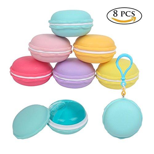 Yovvin 8PCS Macarons Slime Kit Biscuit doux coloré aux Oeufs, Blocs de Pâte, Polymère de Boue de Cristal Clay, Boue de jouet Release Pressure Soulagement de stress Magic Plasticine Kid Toys