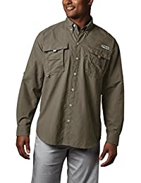 Men's PFG Bahama II Long Sleeve Shirt, Breathable with UV...