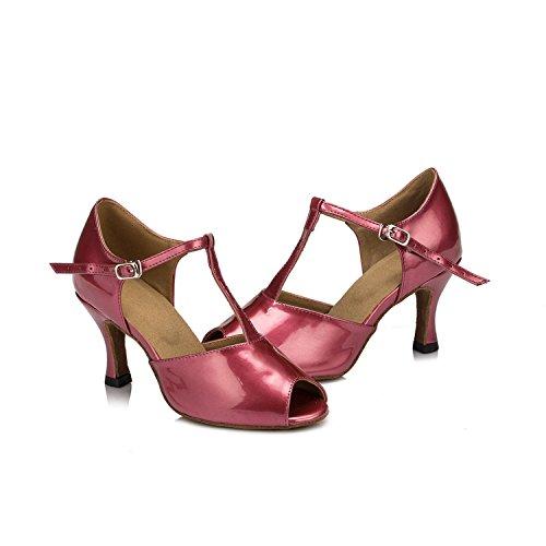 Latine Chaussures cuir Violet Soirée PU coloré danse en femme Mariage de Sandales Minitoo zxtgPwTqt