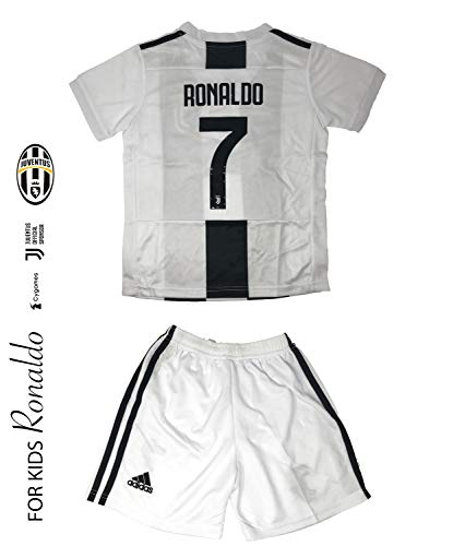 online store 6ac68 4b562 Juventus Soccer Jersey for Kids on Season 2019 - Juventus Ronaldo No.7 -  Replica Jersey Kit: Shirt + Short and Includes All Patches and Logos -  Soccer ...