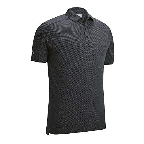 Callaway Denim Jacquard Polo T Shirt (XL) (Caviar)