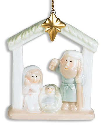 Holy Family Baby Jesus and Star Nativity Christmas Tree Ornament (Northstar Ornament)