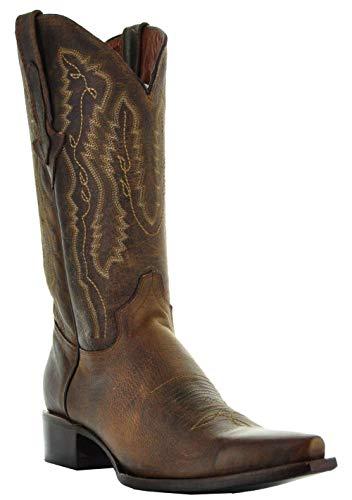 Soto Boots Rio Grande Men's Cowboy Boots (8, Brown)