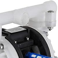 Moracle Bomba de Diafragma de Aire de 12,7 mm Impulsada por Aire Doble Bomba de Doble Diafragma Neum/ática QBY4-15 100PSI 7 GPM con Entrada y Salida de 12,7mm