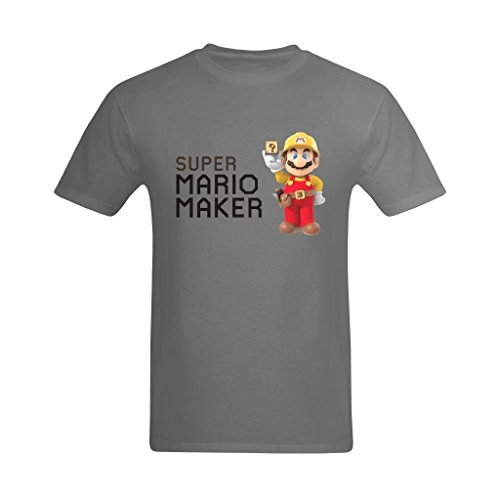 Price comparison product image Definite Myself Men's Super Mario Maker Game Art Design T-Shirt - Style Tee Shirt US Size L