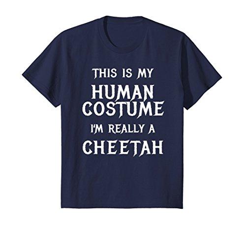Kids I'm Really a Cheetah Halloween Costume Shirt Easy Funny 12 - Costume Cheetah Easy