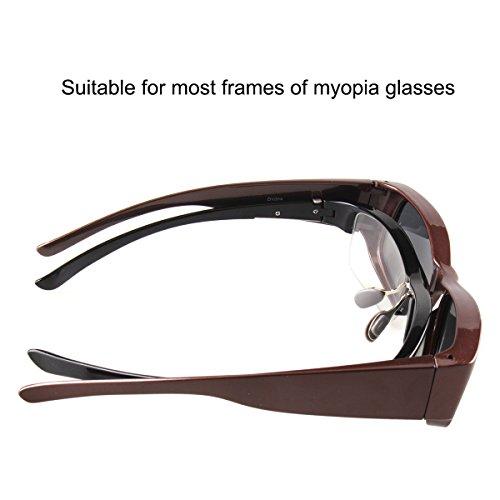 Negro más Ajustar Wrap Conducción Glasses Around Gafas de sol de gafas Polarizado ZqcRwaPvv