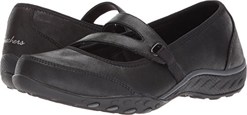 Skechers Sport Women's Breathe Easy Calmly Sneaker,black,8.5 M US