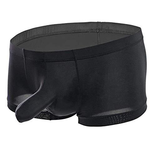 Flaydigo Men's Boxer Briefs, Sexy Mesh Comfortable Breathable Trunk Shorts Underwear Underpants ()
