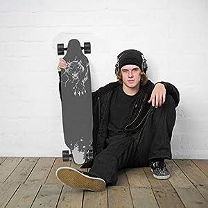 GeekMe Skateboard électrique avec télécommande, Planche à roulettes à 4 Roues avec Batterie au Lithium pour débutants, Planche Cool Trick de 35,4 * 9 inches pour Adultes et Adolescents