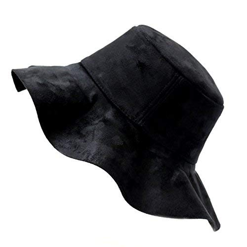 52411945993f03 Image Unavailable. Image not available for. Color: THE HAT DEPOT 800HT719BK  Wide Brim Suede Floppy Hat Black