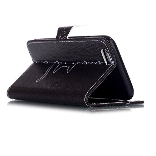 Samsung Galaxy S7 Edge Wallet Funda,Carcasa PU Leather Cuero Suave Impresión Cover Con Flip Case TPU Gel Silicona,Cierre Magnético,Función de Soporte,Billetera con Tapa Libro Tarjetas para Samsung Gal Gato dulce