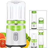 Supkitdin Personal Portable Blender for Shakes and Smoothies,with 2 FDA Approved Cups, Rechargeable, Powerful 6 Blades for Superb Mixing(Green) For Sale