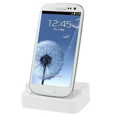 Mxnet Cargador de muelle para Samsung Galaxy S III / i9300 Fundas ( Color : Black ) White