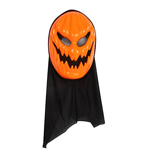 Halloween Skull Ghost Mask With Hair Costume Party Props Masks Scary Evil Creepy Face & Grin Blood (Type Of Pumpkin For Halloween)