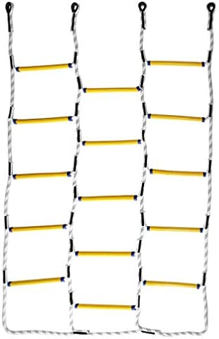 Aoneky 5.9 ft Nylon Climbing Cargo Net – Climbing Rope Ladder for Kids – Fun Outdoor Toy for Boys Ages 6 Years Old and Up