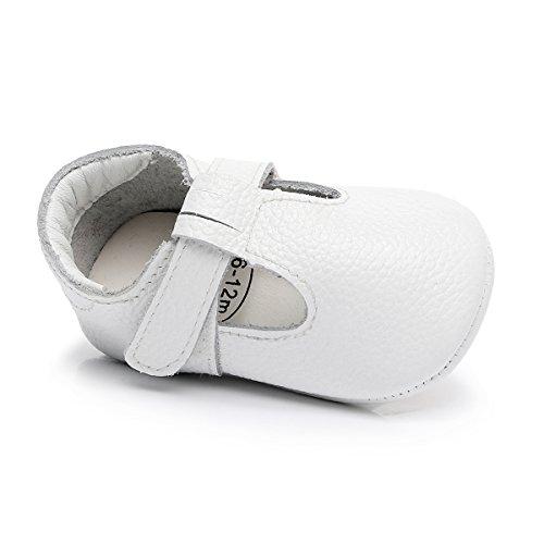 bc250edfcb4abe HONGTEYA Baby Boys Girls Fox Mary Jane Sandals Moccasins Shoes Rubber Sole  Crib Toddler Leather Prewalker