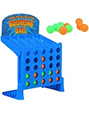 Bouncing Linking Shots Educational Toys, Connect 4 Shots Game, Bouncing Link Shots Multiplayer Toys for Children, Classic Board Games, Family Chess Games Set, Parent-Child Interaction Table Game