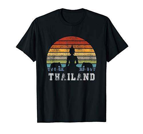Thailand Buddha Vintage Design with Elephants / Gift T-Shirt