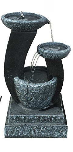 Cheap  Patriot 3 Tier Cascading Pot, fountain with LED Lights