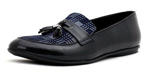 hombre nuevo Inteligentes Vestido Sin Cierres Moda Mocasines Con Borlas Casual Oficina zapatos número GB - hombre, Negro, 10 UK / 44 EU: Amazon.es: Zapatos ...
