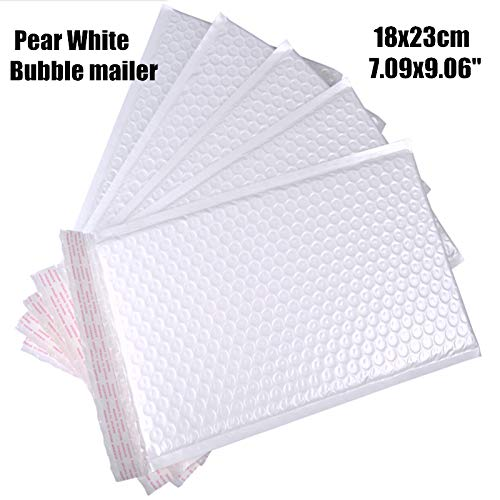XLPD 1823Cm(7.099.06'') 20Pcs/Lot Usable Pearl White Poly Bubble Mailer Waterproof Envelope Padded Mailing Bag Self Sealing for Gift 18x23cm