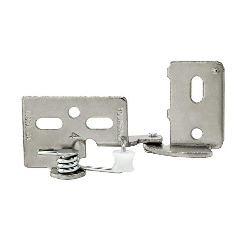 Snap Closing Semi-Concealed Hinges - Nickel (pair) - 3/8 overlay (Semi Concealed)