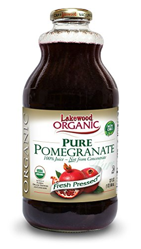 Lakewood Organic PURE Pomegranate Juice, 32-Ounce Bottles (Pack of 6)