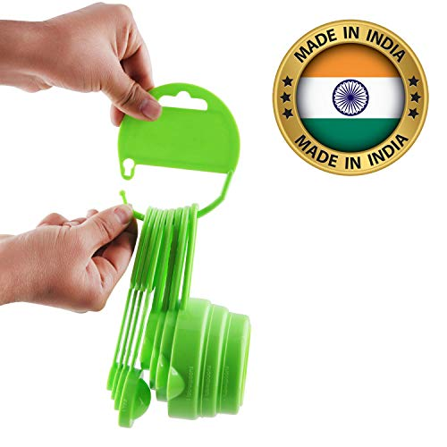 Murti New Measuring Cups and Spoons Set, 8 Pieces for Baking Measurements (Made in India, Green) Price & Reviews
