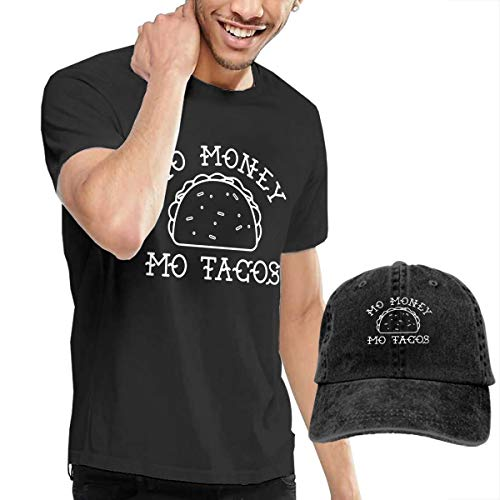 Casual Men's T Shirt and Caps Combination Black for Home Mo Money Mo Tacos