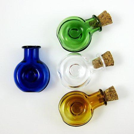 4 x botellas de cristal con tapón de corcho Mini frascos de-surtido de 4