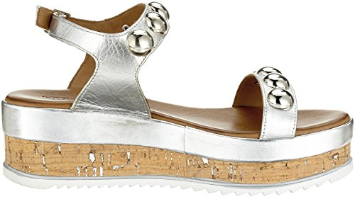 Inuovo Women's 8825 Ankle Strap Sandals Silver (Silver 16778935) KLxdg