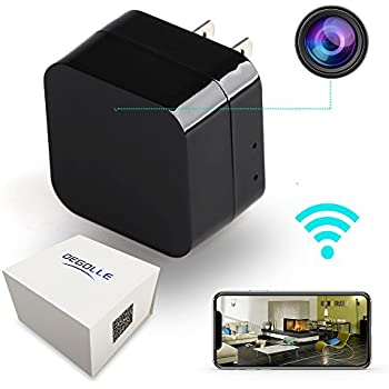 TOP DEGOLLE - Hidden Camera - HD 1080P - Motion Detection - WiFi Remote View - Usb Charging Phones - Alarm Message -(Support 128GB Micro SD Card) - Home Mini Security – Nanny Cam - Spy Camera