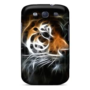 Slim Fit Tpu Protector Shock Absorbent Bumper Tiger Case For Galaxy S3