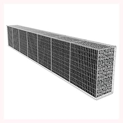 K&A Company Gabion Wall with Cover 19.7'x1.6'x3.3'