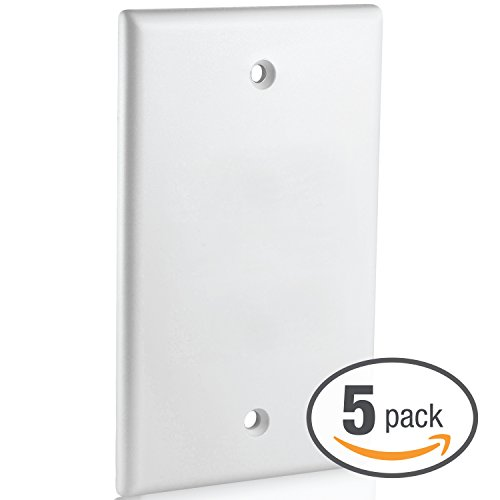 Mediabridge Blank Wall Plate (White) - 5 Pack (Part# 51W-100-5PK )