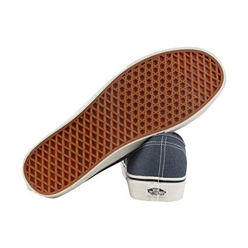 Vans Authentic Vintage Hombres Azul Canvas Lace Up Sneakers Zapatos