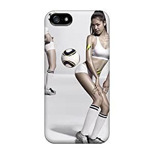 For Iphone 5/5s Tpu Phone Case Cover(football Tricks)