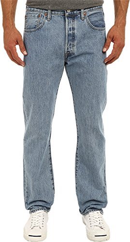 Levi's Men's 501 Original Fit Jean, Light Stonewash, 32x32