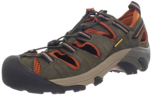 KEEN Men's Arroyo II Hiking Sandal,Black Olive/Bombay Brown,